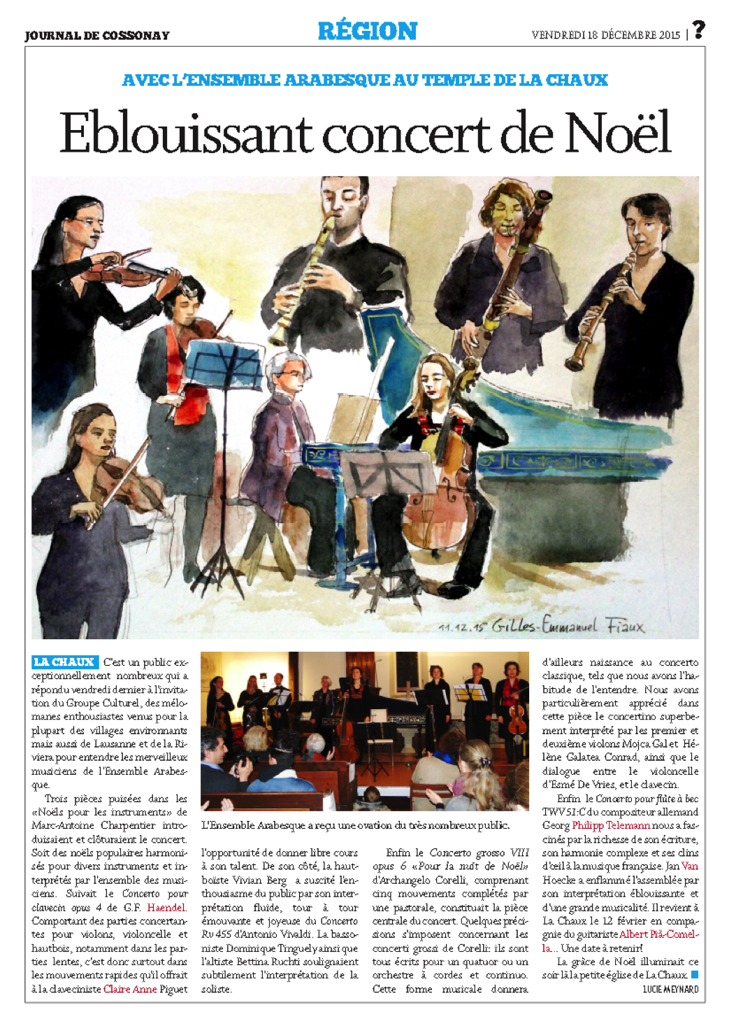 Concert Noël Cossonay
